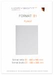 plakat B1, druk pełnokolorowy jednostronny 4+0, na papierze kredowym, 130 g, 50 sztuk