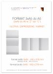 ulotka 3xA5 składana do A5, druk pełnokolorowy obustronny 4+4, na papierze kredowym, 170 g, 1000 sztuk