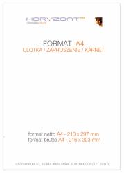 ulotka A4, druk pełnokolorowy obustronny 4+4, na papierze kredowym, 130 g, 50 sztuk