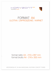 ulotka A4, druk pełnokolorowy obustronny 4+4, na papierze kredowym, 170 g, 5000 sztuk