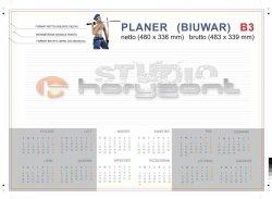 planer na biurko B3 - 26 kart, druk jednostronny pełnokolorowy 4+0, offset 90g, klejony - 600 sztuk