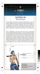 ulotka DL, druk pełnokolorowy obustronny 4+4, na papierze kredowym, 250 g, tryb ekspres 50 sztuk