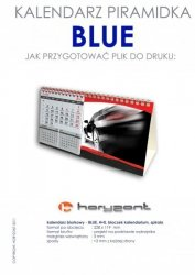 kalendarz biurkowy piramidka - BLUE - 50 sztuk