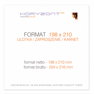 ulotka 198 x 210 mm, druk pełnokolorowy obustronny 4+4, na papierze kredowym, 250 g, 1000 sztuk