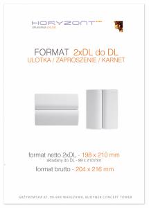 zaproszenie - karta 2xDL, składana do DL, druk dwustronny, kreda 250-300 g, bez folii 100 sztuk