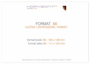 zaproszenie - karta A6, druk dwustronny, kreda 350 g, bez folii 1000 sztuk