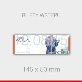 BILETY WSTĘPU 145 x 50 mm