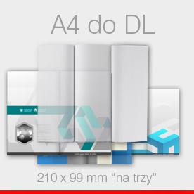 ulotki składane A4 do DL Ekspres