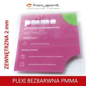 PMMA (bezbarwna plexi) 2 mm