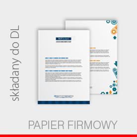 papier firmowy, A4 składany do DL, offset 170g