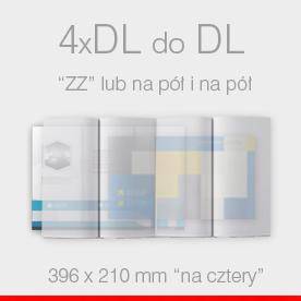 ulotki składane 4 x DL do DL Ekspres