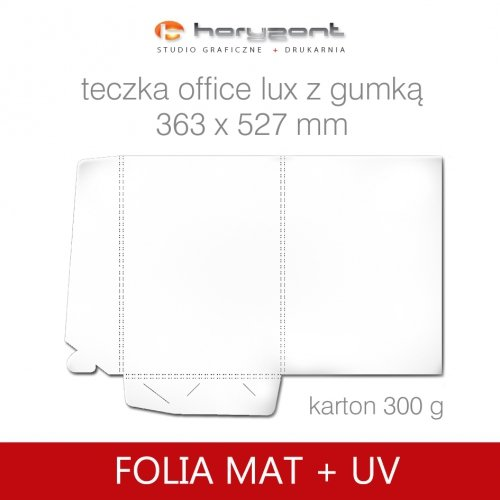 Office lux z gumką - folia mat + UV