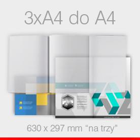 ulotki składane 3 x A4 do A4 Ekspres