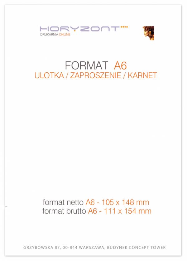 ulotka A6, druk pełnokolorowy obustronny 4+4, na papierze kredowym, 170 g, 200 sztuk