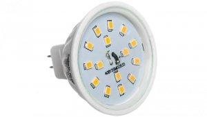 Żarówka LED 12V 4,5W Gx5,3  LED15 C MR16-WW-B 3000K 380lm 22203