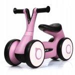 Chodzik rowerek dla dzieci różowy