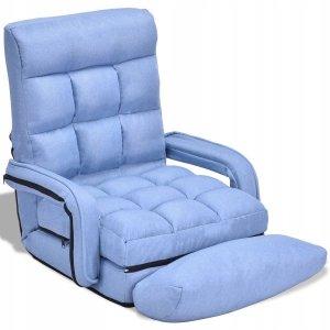 Rozkładany fotel podłogowy leżanka 3w1