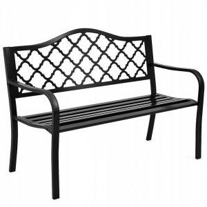Klasyczna stalowa ławka ogrodowa parkowa