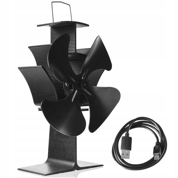 Termoelektryczny wentylator kominkowy wiatrak usb