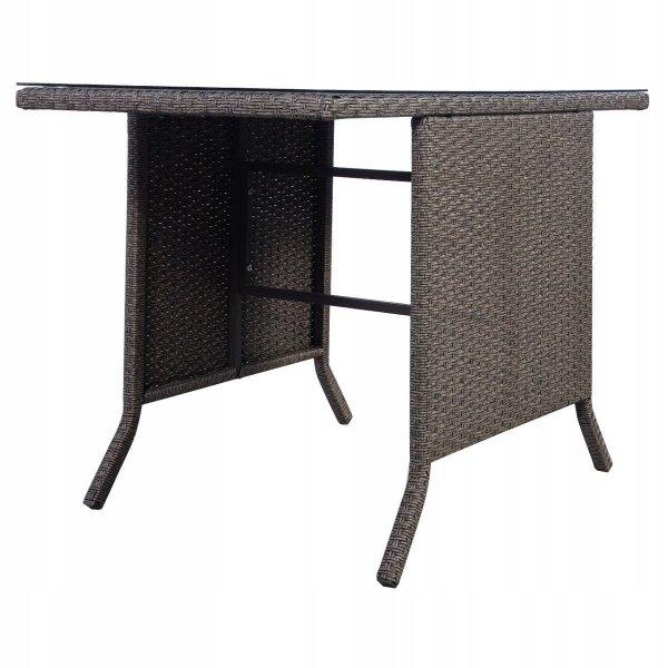 Meble ogrodowe rattanowe zestaw stół i 2 krzesła