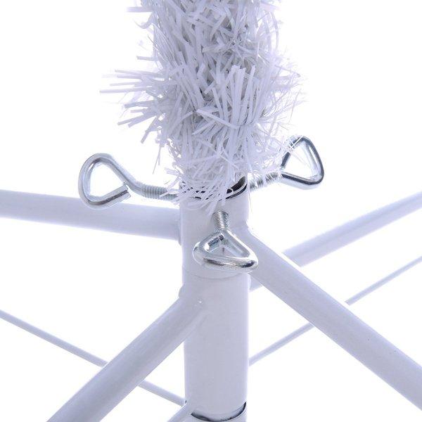 Sztuczna biała choinka ze stojakiem 240cm