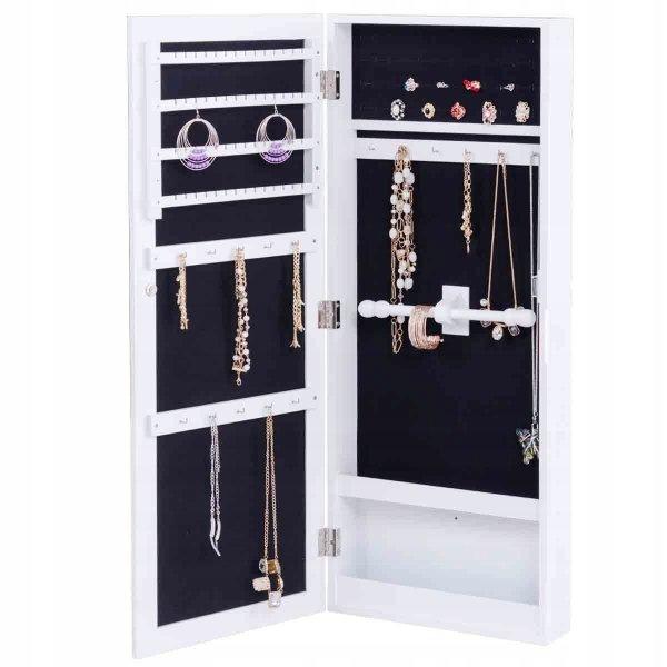Szafka na biżuterię z lustrem na drzwi