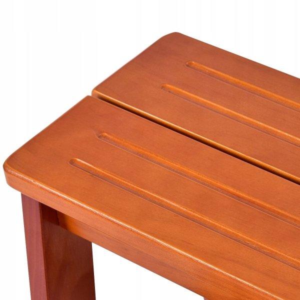 3-stopniowa drewniana składana drabinka podest