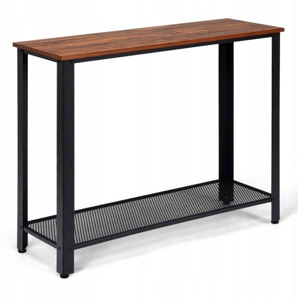 Wąski stolik boczny z półką