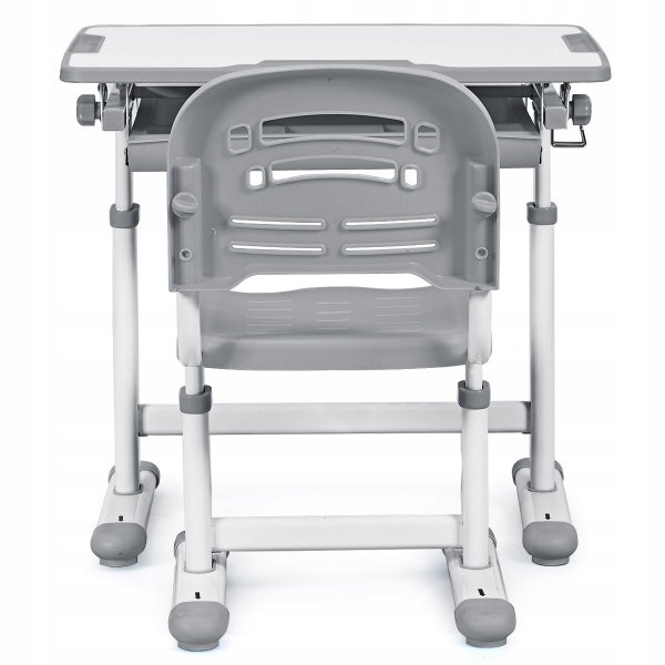 Stół kreślarski biurko szkolne z krzesłem dla dziecka grey