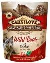 Carnilove Dog Wildboar & Rosehips - dzik i owoce dzikiej róży saszetka 300g