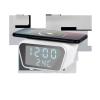 Cyfrowy zegar-budzik z ładowarką indukcyjną (biały)
