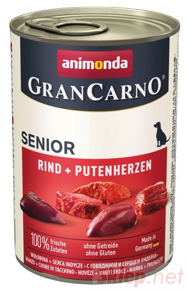 Animonda GranCarno Senior Rind Putenherzen Wołowina + Serca Indyka puszka 400g