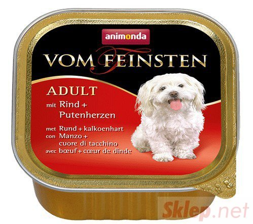 Animonda vom Feinsten Dog Wołowina i Serca Indyka 150g