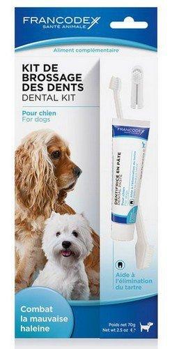 Francodex Zestaw do czyszczenia zębów pasta + szczoteczka [FR172360]