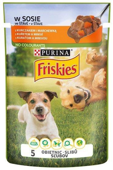 Friskies Dog Adult Kurczak i marchewka w sosie saszetka 100g