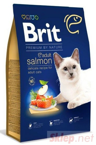 Brit Premium Cat New Adult Salmon 800g