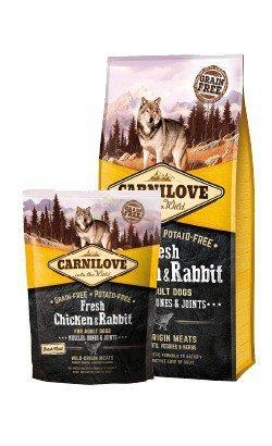 Carnilove Dog Fresh Chicken & Rabbit Adult - kurczak i królik 12kg