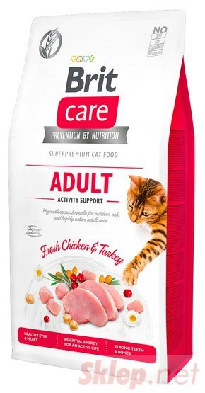 Brit Care Cat Grain Free Adult Activity Support 2kg