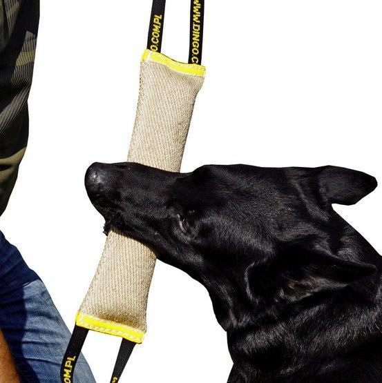 Dingo Zabawka dla psa - Szarpak z juty z dwoma uchwytami 28/4cm