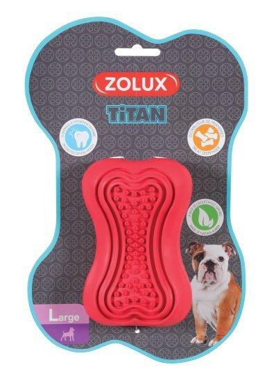 Zolux Zabawka kauczukowa Titan L czerwona [479108RGE]
