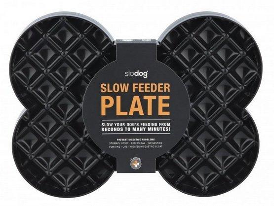 SloDog Slow Feeder Plate Miska duża kość czarna