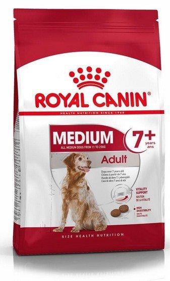 Royal Canin Medium Adult 7+ karma sucha dla psów starszych od 7 do 10 roku życia, ras średnich 15kg