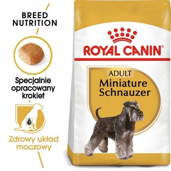 Royal Canin Miniature Schnauzer Adult karma sucha dla psów dorosłych rasy schnauzer miniaturowy 3kg