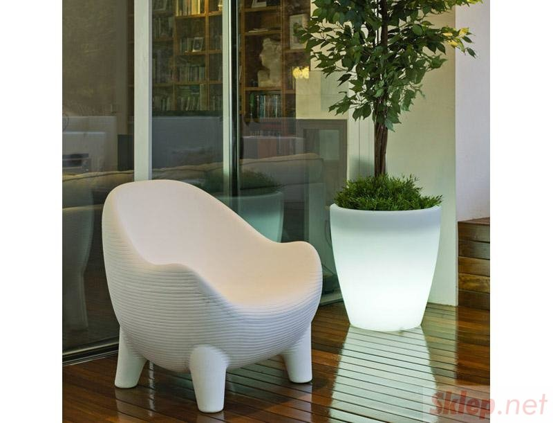 NEW GARDEN fotel ARUBA SOLAR biały - LED