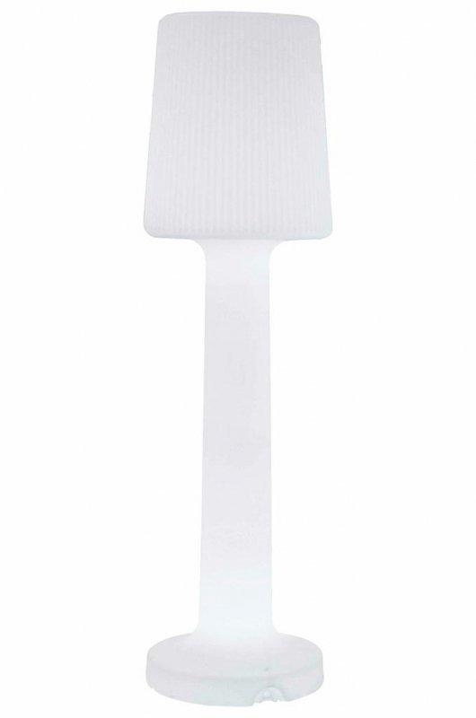 NEW GARDEN lampa ogrodowa CARMEN 165 B biała - LED, wbudowana bateria