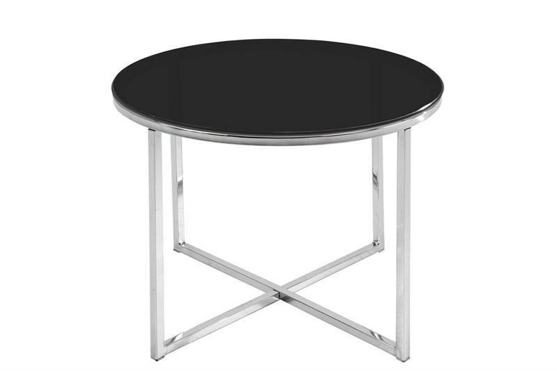 ACTONA stolik kawowy CROSS czarny - szkło, chrom