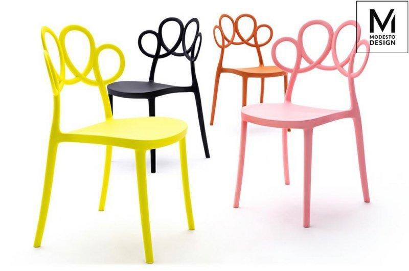 MODESTO krzesło LOOPY pomarańczowe - polipropylen