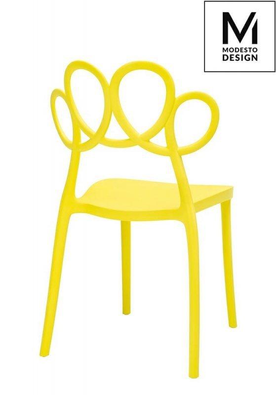 MODESTO krzesło LOOPY żółte - polipropylen