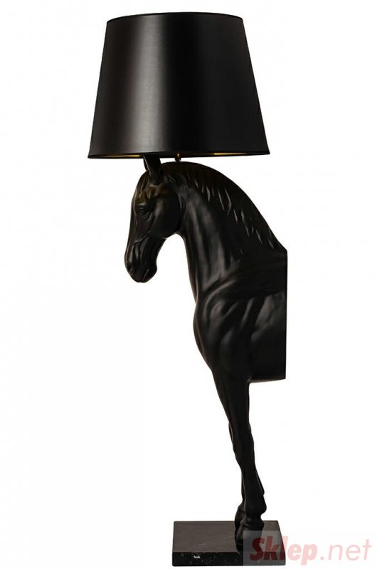Lampa podłogowa KOŃ HORSE STAND S czarna - włókno szklane