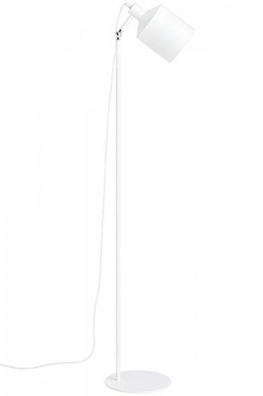 Lampa podłogowa LEKTOR biała - aluminium